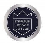 Salvata stipriausia Lietuvoje 2014-2021
